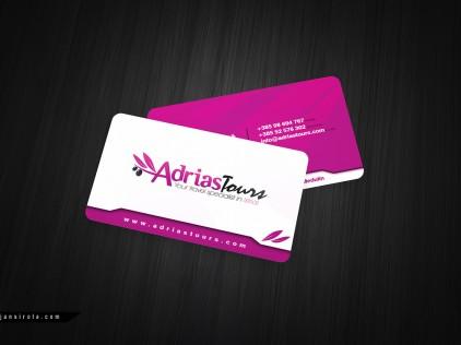 Adrias Tours : : : Business card design