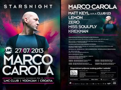 Marco Carola : : : Flyer A5