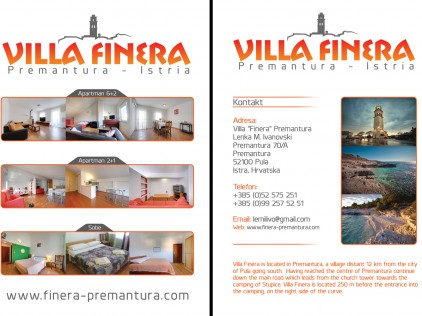 Villa Finera : : : Flyer A5
