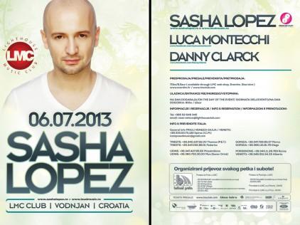 Sasha Lopez : : : Flyer A5